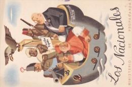 España - TARJETA POSTAL - GUERRA CIVIL - LOS NACIONALES - MINISTERIO DE PROPAGANDA - Entiers Postaux