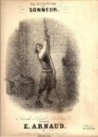 LITHOGRAPHIE SINGELEE LE DIMANCHE DU SONNEUR PARTITION MUSICALE PAROLES D EMILE BARATEAUL MUSIQUE E ARNAUD - Lithografieën