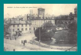 REPRODUCTION 12 Rodez La Poste Et Le Jardin De La Place D' Armes - Rodez