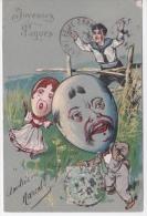 Carte JOYEUSES PAQUES -  HUMORISTIQUE  CARICATURE  - BELLE ILLUSTRATION - DOS SIMPLE - Pâques