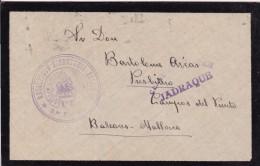 España - DEL FRENTE A MALLORCA - CENSURA MILITAR - JADRAQUE -  RARA - 1931-....