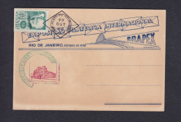 Bresil Brasil Rio De Janeiro Exposicao Filatelica Internacional 1938 Brapex Cad - Brésil