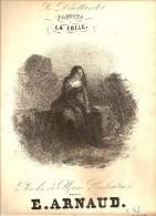 LITHOGRAPHIE SINGELEE LA FOLLE PARTITION MUSICALE PAROLES DE MARC CONSTANTIN MUSIQUE DE E.ARNAUD - Lithografieën