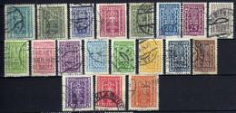 Österreich 1922 Mi 362; 365-368; 370-371; 378; 281; 383-389; 391-393, Gestempelt [280316XII] - 1918-1945 1ra República