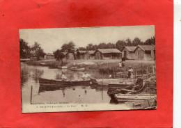 BIGANOS  / ARDT  ARCACHON     1910  LE PORT    CIRC OUI  EDIT - Autres Communes