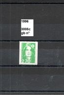 Variété De 1996 Neuf**  Y&T N° 3008c N° Rouge Au Dos - Varieties: 1990-99 Mint/hinged