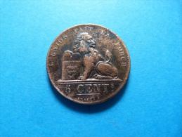 BELGIQUE  :  5 CENTIMES  1856 - 03. 5 Céntimos