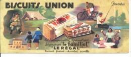 Buvard Biscuits Union. Le Familial, Le Régal. Biscuit Fourré Chocolat Vanille. - Alimentaire