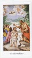 SANTINO  HOLY CARD - BATTESIMO DI GESU´ - EGIM 429 LOGO DEL CENTENARIO - Devotieprenten