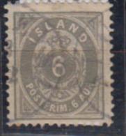 ISLANDE      1878           N.    7           ( Denteles 12 1/2 )     COTE    16 . 50    EUROS          ( 476 ) - Oblitérés