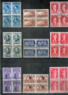 Belgique - 728/36 - Obl./gest/used  En Bloc De 4 - Série Bodavan - Used Stamps
