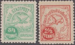 Allemagne / Pologne 1896. Poste Locale De Breslau Ou Wroc?aw. Neue Stadtpost Et Inscription Modifiée. Colombe Et Lettre - Pigeons & Columbiformes