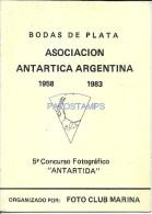 34770 ARGENTINA LIBRO ANTARTIC ANTARTIDA BODAS DE PLATA  PAG 15 YEAR 1983 NO POSTAL POSTCARD - Other