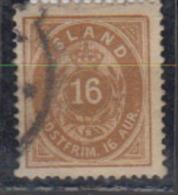 ISLANDE      1878           N.    9         ( Denteles       12 1/2 )     COTE    100 . 00    EUROS          ( 480 ) - Oblitérés