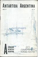 34773 ARGENTINA LIBRO ANTARTIC ANTARTIDA 20 ANIVERSARIO 1958 - 1978  AÑO 19 Nº 21 PAG 38 NO POSTAL POSTCARD - Bücher, Zeitschriften, Comics