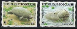 TOGO WWF, Mammiferes Marins. Yvert N°1151/52 ** Neuf Sans Charniere. MNH. - W.W.F.
