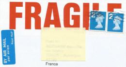 GB LETTRE POUR LA FRANCE 2015 - 1952-.... (Elizabeth II)