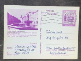 I4 Österreich Austria Autriche Ganzsache Stationary Entier Postal Mi. P 453 75/25 Wels Brunnen - Ganzsachen