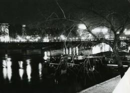 France Paris Hotel Des Monnaies Pont Des Arts La Nuit Ancienne Photographie 1965 - Places