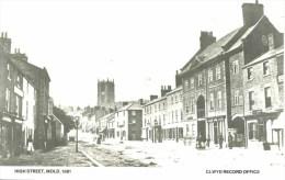 CLWYD - MOLD - HIGH STREET 1861 (REPRO) Clw-297 - Flintshire