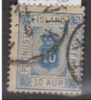 ISLANDE      1876      Service     N.    6      ( 14x13 1/2 )      COTE    13 . 50    EUROS          ( 509 ) - Dienstpost