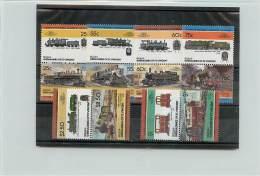 GRENADINES OF ST. VINCENT BEQUIA 1985 - TRENI TRAINS - 12 VALORI - St.Vincent E Grenadine