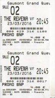 2 TICKETS CINEMA GAUMONT PROMO BNP GAUMONT GRAND QUEVILLY