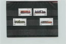 INDIA 1976 - TRENI TRAINS - 4 VALORI - Nuovi