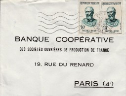 MICHEL-ANGE Yvert 1133 De Paris Rue Hippolyte Lebas - Marcofilia (sobres)