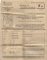 CHEMIN DE FER FRANCAIS REGLEMENT P11 ANNEXE A L AVIS GENERAL1961 - Documentos Antiguos
