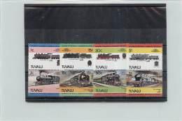 TUVALU 1984  - TRENI TRAINS -  8 VALORI - Tuvalu