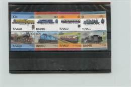 TUVALU 1985  - TRENI TRAINS -  8 VALORI - Tuvalu
