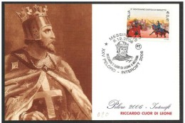 Italia/Italie/Italy: Riccardo I Cuor Di Leone, Richard The Lionheart, Richard Cœur De Lion - Célébrités
