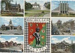 .. SOUVENIR DE BRUXELLES  ..  AANDENKEN AAN BRUSSEL ..ECRITE AU VERSO - Multi-vues, Vues Panoramiques