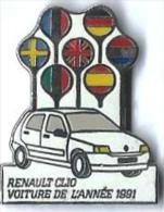 RENAULT - R15 - CLIO VOITURE DE L'ANNEE 1991 - Verso : SOFREC - Renault