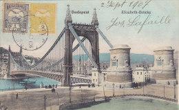 Budapest - Elisabeth-Brücke (animation, Colors, 1907, Stamps Both Sides) - Hongrie
