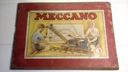 Couvercle Bois Ancien De Boite Construction MECCANO N°3 - Meccano