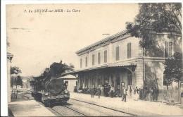 C P A  -  LA  SEYNE  Sur  MER  La  GARE  Avec Le Train - La Seyne-sur-Mer
