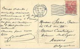 _5pk-333: N° 60 Met Pefin : K . / Prentkaart: Den Haag Hofvijver: > Anvers - Periode 1891-1948 (Wilhelmina)