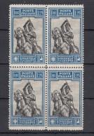 Regno D'Italia - Emanuele Filiberto 1,25 Lire Dent 13¾ In Quartina Sass. 235/i Lineare ** Periziata - Nuovi