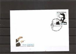 SLOVENIA 2014,MUSIC,RADO SIMONITI,COMPOSER,,,,FDC, - Slovénie