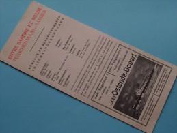 Folder ( Gevouwen ) ENTRE SAMBRE Et MEUSE - TUSSCHEN MAAS En SAMBER Anno 1938-39 ( Zie Foto´s ) ! - Dépliants Touristiques