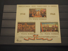 ROMANIA - BF 1968 TRANSILVANIEI - NUOVI(++) - Hojas Bloque