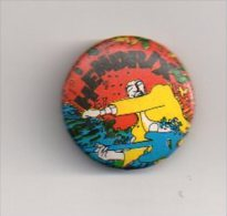 REF A6 : Pin's Pin Badge Ancien Vers 1980 Jimmy HENDRIX - Beroemde Personen