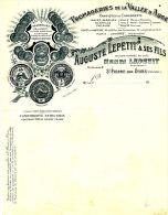 FA 764 /  FACTURE - FROMAGERIE DE LA VALLEE D'AUGE HENRI LEPETIT  ST PIERRE SUR DIVES - (FORMAT A4) - 1900 – 1949