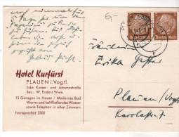 Nr. 6793,  Postkarte, Hotel Kurfürst, Plauen Im Vogtland - Briefe U. Dokumente