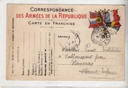 WWI - 234 EME REGIMENT - SECTEUR POSTAL 105 - TRESOR ET POSTES - SABLONCEAUX - PINET - CACHET MILITAIRE SUR CPA - Marcophilie (Lettres)