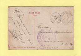Correspondance D Armees - Port Said - 14 Sept 1915 - Marine Francaise Service A La Mer - Destination Lamanon - Port-Saïd (1899-1931)