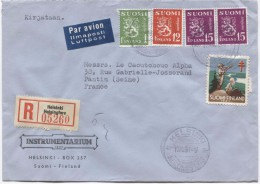 Suomi Finland Registered Air Mail Cover Helsinki - Helsingsfors 1951 To France Pantin Arrival Cancellation PR2972 - Finlande