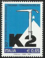 ITALIA REPUBBLICA ITALY REPUBLIC 2004 CONQUISTA DEL K2 MNH - 6. 1946-.. Republic